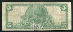 1902 $5 The Valley National Bank Of Des Moines, Ia National Currency Ch. #2886