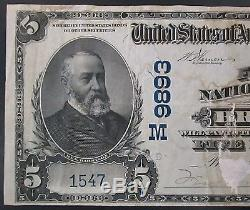 1902 Five Dollar National Currency, First National Bank of Breese, Illinois