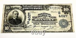 1902 National Currency Bank Note Roanoke Virginia
