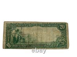 1902 PLAIN BACK $20 NATIONAL CURRENCY THE NATIONAL BANK OF Bristol, VA