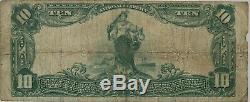 1902 Pb $10 National Bank Note Hastings Nebraska Currency F+ Fine+ (572h)