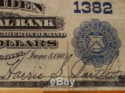 1902 Series $10 National Currency, Ch#1382, The Meriden National Bank, Connecticut
