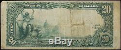 1902 Series National Bank Hastings Nebraska $20 Currency Note Choice Vf (869)