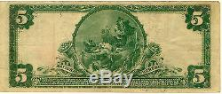 1902 Series National Currency The First National Bank of Albion IL $5 Note