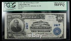 1902 The Otoe County National Bank Of Nebr City $10 Nat'l Currency Pcgs 58 Ppq