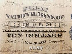 1903 United States Circulated $10 National Currency Bank Note 6912 Butler, NJ
