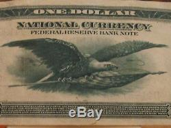 1918 $1, Federal Reserve Bank Note, National Currency, Vf/xf Condition, Fr#718
