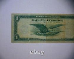 1918 $1 National Currency Large Bank Note Chicago ILL