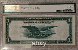 1918 PMG $1 National Currency Federal Reserve Bank Richmond AU55 EPQ FR-722
