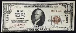 1929 $10.00 National Currency, The First National Bank of Marion, Wisconsin