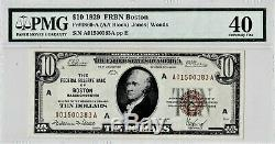 1929 $10 BOSTON Massachusetts Federal Reserve Bank Note Brown National Currency