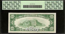 1929 $10 Dollar Bill Brown Seal Federal Res Bank Note National Currency Pcgs 55