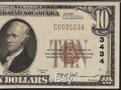 1929 $10 Dollar Wamego Kansas National Bank Note Currency Pottawatomie Pmg 63epq