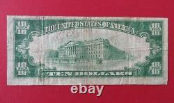 1929 $10 First National Bank of Plainfield NJ Type 2 Currency Charter # 13629