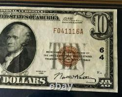 1929 $10 National Currency Bank Note First Wisconsin National Bank Of Milwaukee