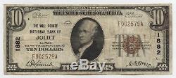1929 $10 National Currency Note 1882 Joliet Illinois Bank Ten Dollars AX342