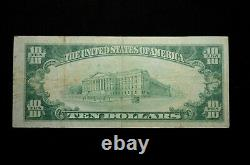 1929 $10 National Currency The National Bank of Girard Pennsylvania #7343