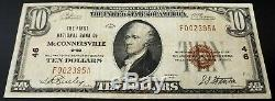 1929 $10 National Currency from The First National Bank of McConnelsville, Ohio