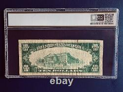 1929 $10 Texas Natl Currency The United States National Bank Of Galveston Texas