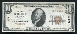 1929 $10 The First National Bank Of Elkhart, In National Currency Ch. #206