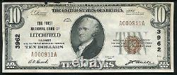 1929 $10 The First National Bank Of Litchfield, IL National Currency Ch. #3962