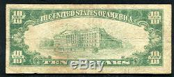 1929 $10 The First National Bank Of Memphis, Tx National Currency Ch. #6107