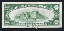 1929 $10 The First National Bank Of Port Jervis, Ny National Currency Ch. #94 Xf