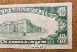 1929 $10 The State National Bank of Texarkana, Arkansas National Currency Note