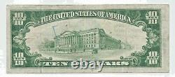 1929 $10 Tiffin OH Ch 7795 Type 2 National Currency Bank Note A002089 RARE OHIO