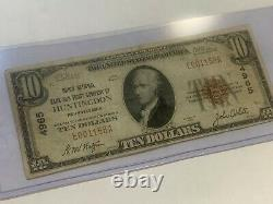 1929 $10 Union National Bank & Trust Huntingdon Pa National Currency 4965