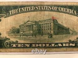 1929 $10 United States Nat. Bank Galveston Texas National Currency 12475 TYPE 2
