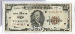 1929 $100 Federal Reserve Bank Chicago National Currency Note RC685