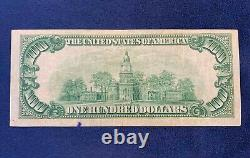 1929 $100 Federal Reserve Bank of New York National Currency Note Free Ship US