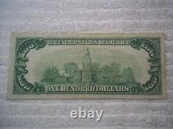 1929 $100 South Bend Indiana IN National Currency T1 # 4764 Citizens Natl Bank #