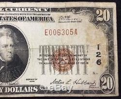 1929 $20.00 National Currency, The First National Bank of South Bend, Indiana