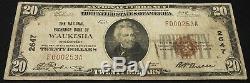 1929 $20.00 National Currency, The National Exchange Bank of Waukesha, WI
