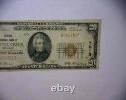 1929 $20 NATIONAL CURRENCY Bank Note LOW 3 DIGIT SERIAL # BATTLE CREEK MICH