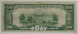 1929 $20 National Bank Note Currency Dallas Texas Choice Vf Very Fine (725a)