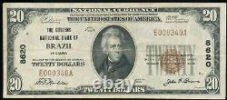 1929 $20 National Currency The Citizens National Bank Of Brazil, IN Ch. # 8620