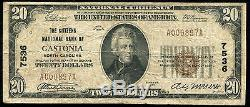 1929 $20 The Citizens National Bank Of Gastonia, Nc National Currency Ch. #7536