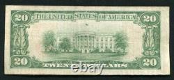 1929 $20 The Texarkana National Bank Texarkana, Tx National Currency Ch. #3785