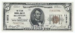 1929 $5 Bluffton, OH National Currency Bank Note Bill CH 11573 UNC Type 1 OHIO