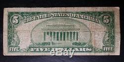 1929 $5 National Bank of Burlington North Carolina National Currency Note 13613