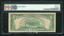 1929 $5 Oldham National Bank Oldham, Sd National Currency Ch #12662 Pmg Vf-35