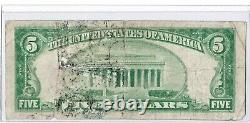 1929 $5 SAN FRANCISCO CA Federal Reserve Bank Note Brown National Currency KEY