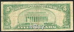 1929 $5 The First National Bank Of Biloxi, Ms National Currency Ch. #10576