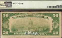 1929 $50 Dollar Honolulu Hawaii Bishop First National Bank Note Currency Pmg 20