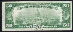 1929 $50 Honolulu, Hi National Bank Note Hawaii Currency E005154a