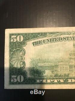 1929 $50 National Currency-federal Reserve Bank Of Chicago