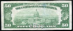 1929 $50 The First National Bank Of Danville, IL National Currency Ch. #113 Vf+